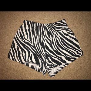 Zebra Print Soffe Shorts